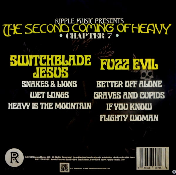 SWITCHBLADE JESUS & FUZZ EVIL the second coming of heavy - chapter 7 LP