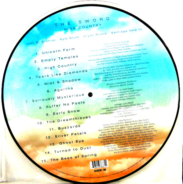 SWORD, THE high country - pic disc LP back