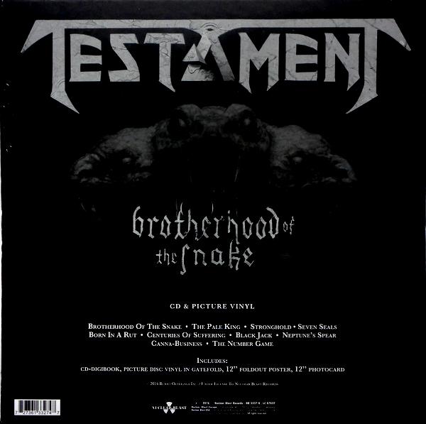TESTAMENT brotherhood of the snake - box set LP