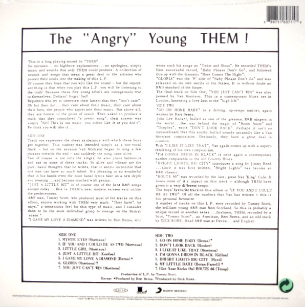 """THEM the """"angry"""" young them LP"""
