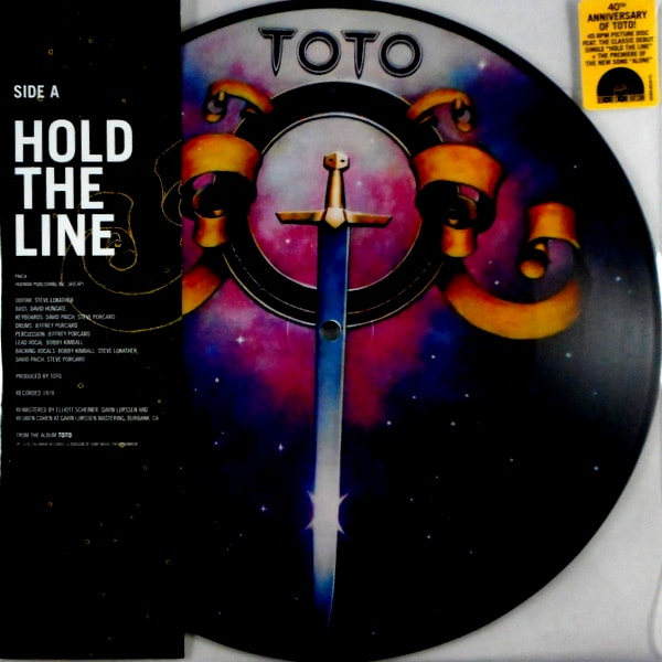 TOTO hold the line - pic disc 10""