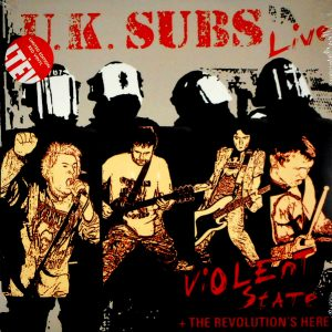 UK SUBS violent state & the revolution's here LP