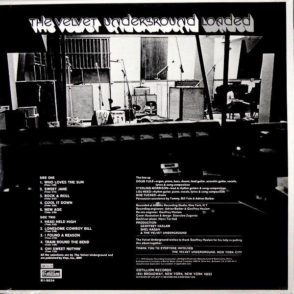 VELVET UNDERGROUND, THE loaded LP back