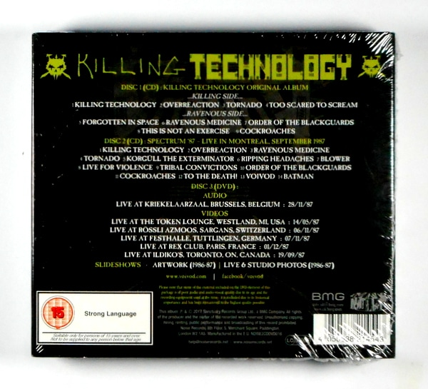 VOIVOD killing technology - deluxe CD CD
