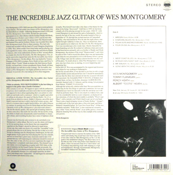 MONTGOMERY, WES the incredible jazz guitar of LP back