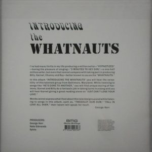 WHATNAUTS, THE introducing the whatnauts LP