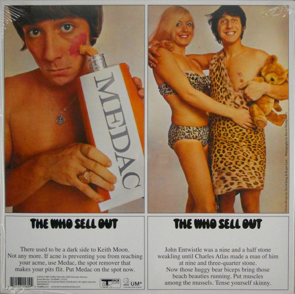 WHO, THE sell out LP back