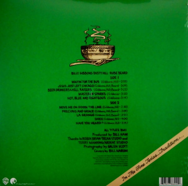ZZ TOP tres hombres - col vinyl LP